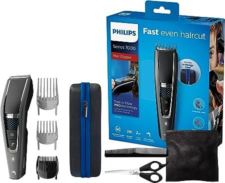 Philips HC7650/15 - Cortapelos doméstico con 28 ajustes de longitud, capa de peinado, peine, tijeras y bolsa de almacenamiento