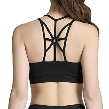 215c92ca92 Snailify Women s Sports Bra High Impact Crisscross Racerback Wireless  Halter - Strappy Padded Workout Yoga Gym