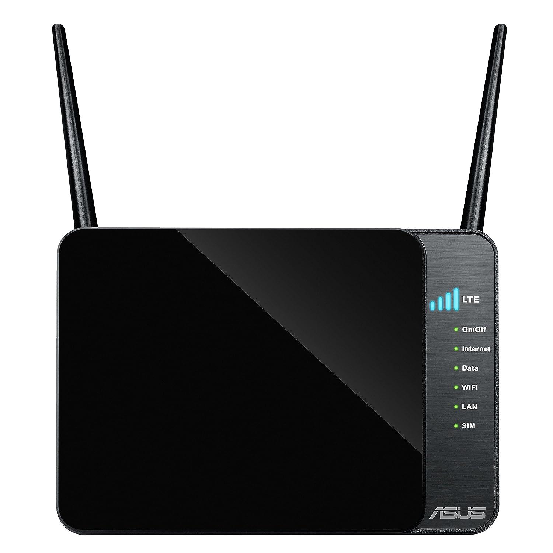 ASUS 4G-AC55U - Router inalámbrico AC1200 4G LTE (hasta 150 Mbps, CAT4, IPV6, Server VPN, un Puerto Gigabit Ethernet Dual-WAN)