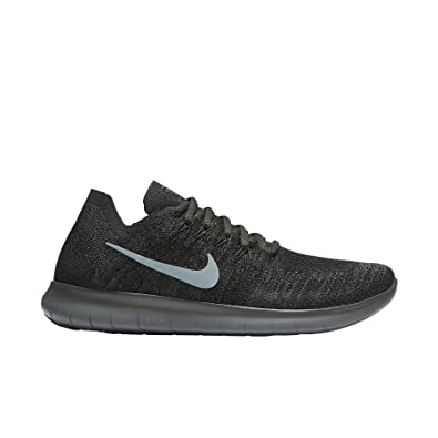 NIKE Mens Free RN Flyknit 2017 Running Shoes Black/River Rock/Anthracite 880843-