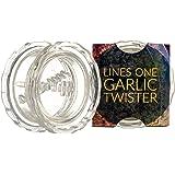LinesOne Garlic Press Crusher Twister Mincer, Garlic Twist Hand Presser Crusher Ginger Squeezer Slicer Masher Kitchen Tool