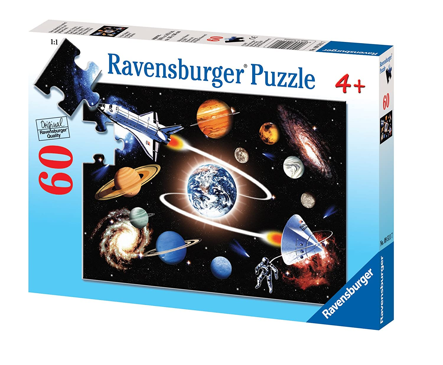 Ravensburger 09511 - In der Galaxis - 60 Teile Kinderpuzzle