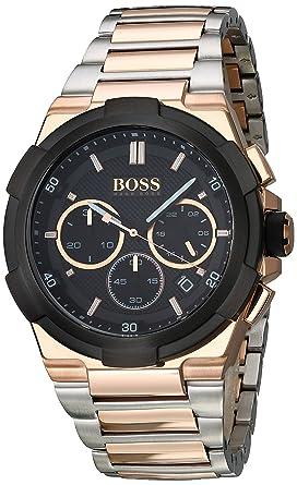 Amazon Com Hugo Boss Men S Classic 46mm Rose Gold Tone Steel