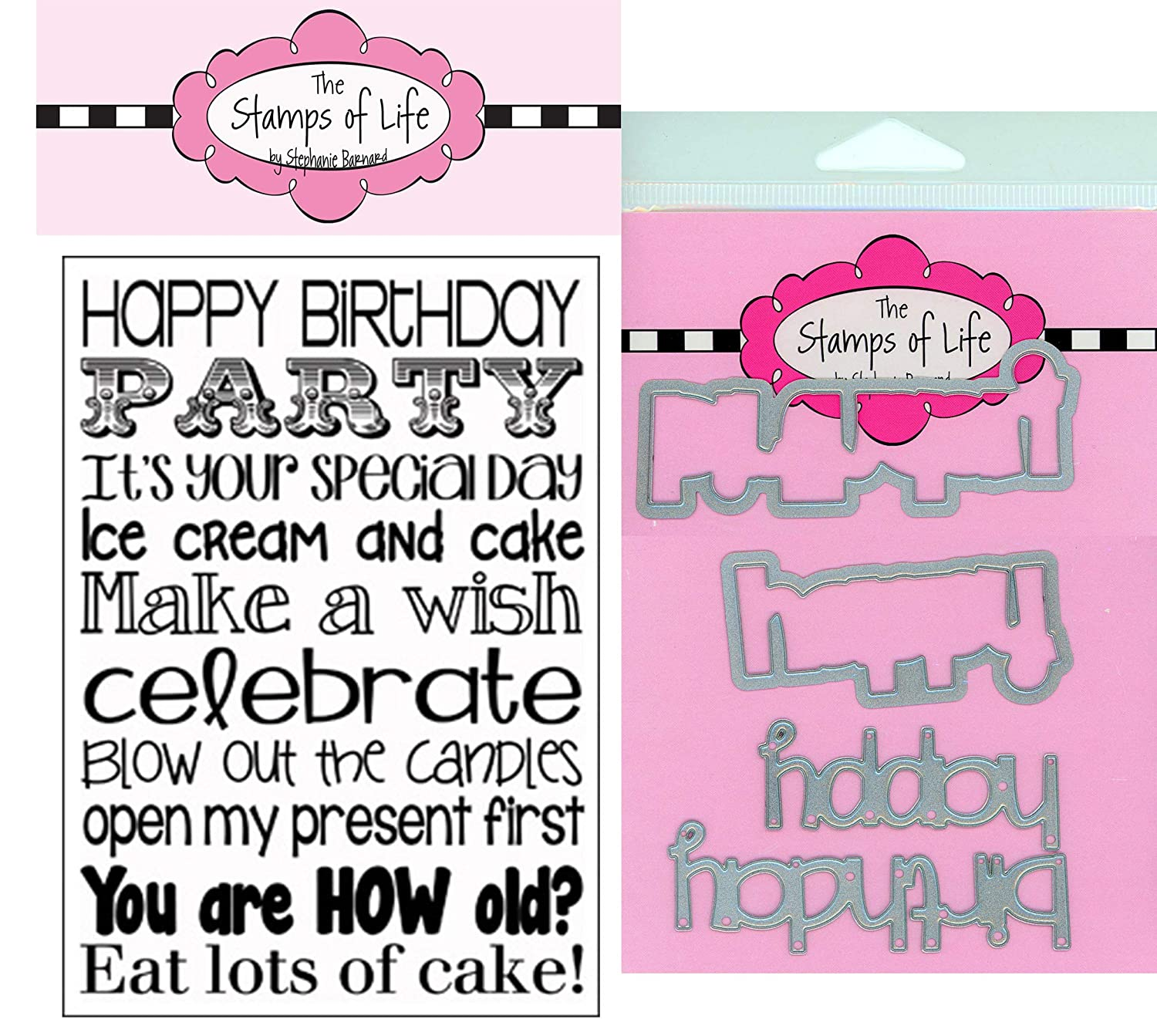 Circle Sentiment Die Happy Birthday Dies for Scrapbooking and Card-Making and DIY Crafts by The Stamps of Life