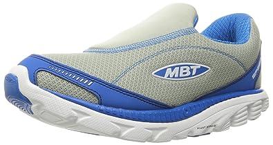MBT Men's Speed 16 Slip On Walking Shoe, Cloud Grey/Royal, ...