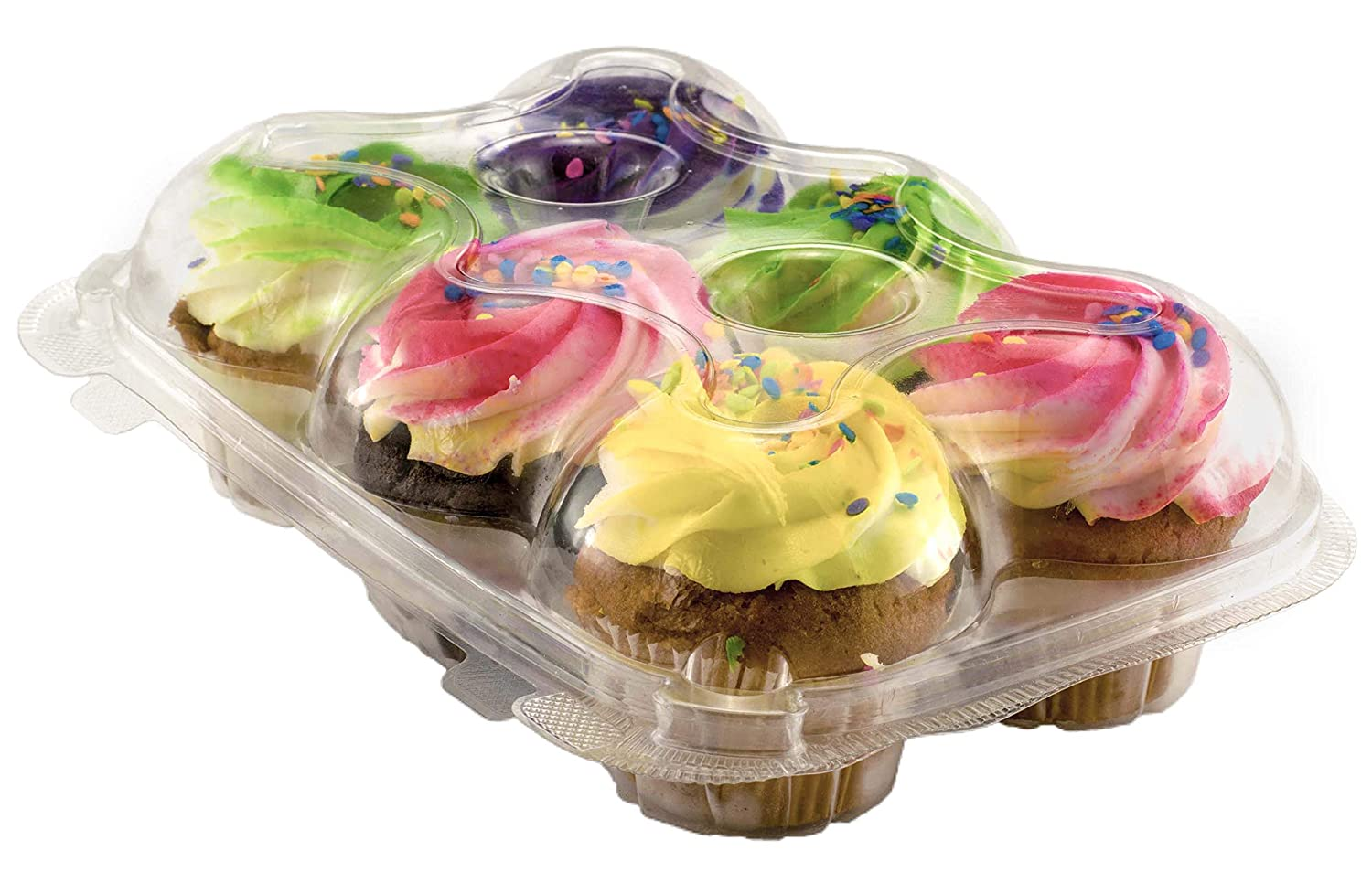 Amazon.com: Katgely Cupcake Boxes Cupcake Containers 6 Pack Cupcake ...