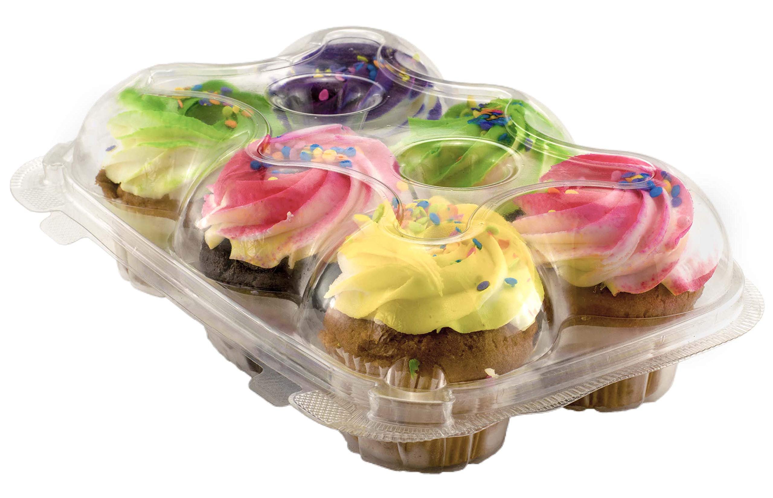 Katgely Cupcake Boxes Cupcake Containers 6 Pack Cupcake, Set of 12 by Katgely Inc