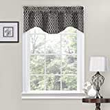 Traditions by Waverly 14308056X016OYX Ellis 56-Inch by 16-Inch Window Valance, Onyx