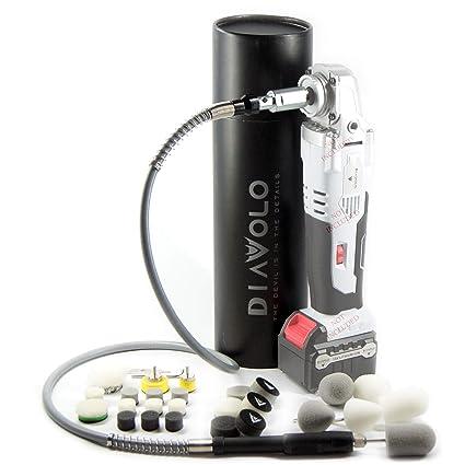 Diavolo 16V Mini Polishing Kit Cordless Polisher and Nano Flex Shaft Detail Kit