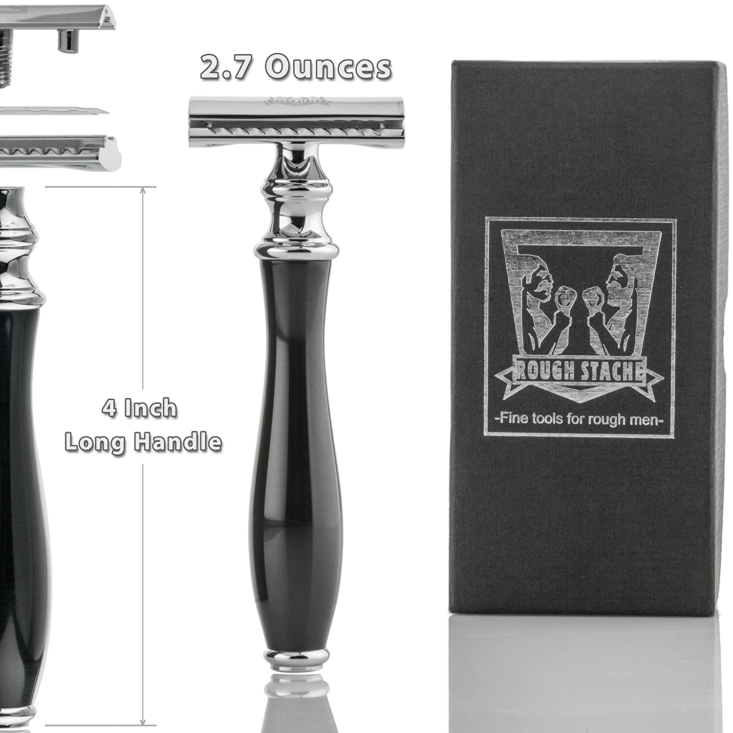 Ultra-Smooth Double Edge Safety Razor, Twist to Open Classic