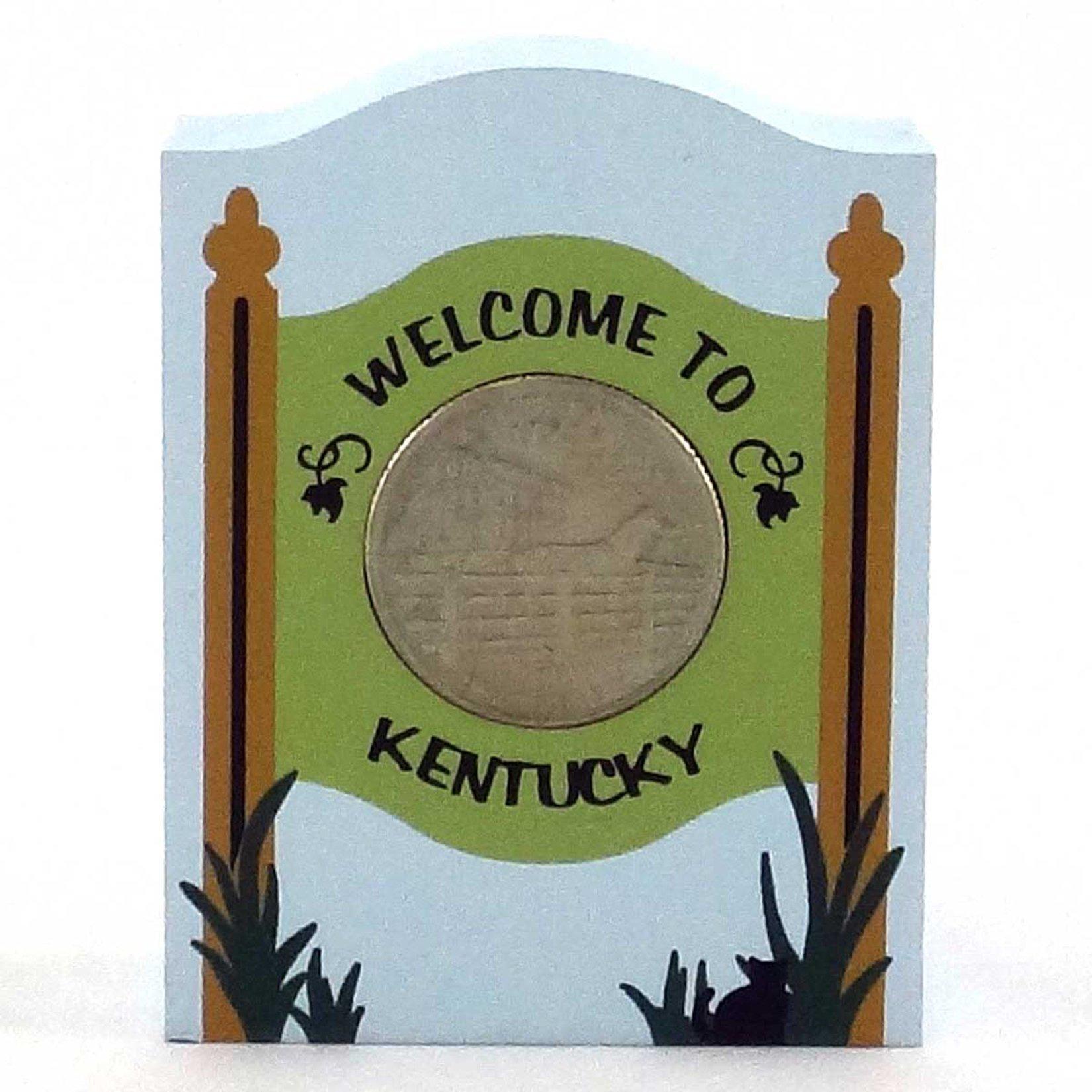 Keepsake, Wooden - KY State Quarter Holder
