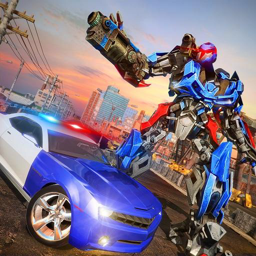 Police Robot  Car simulator 3D: NY City Police Chase Real Robot  Best Muscle Transformation Fighting Adventure Mission Games Free  for Kids ()