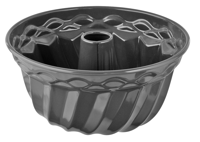 Oetker Gugelhupfform /Ø 22 cm Menge: 1 St/ück Dr Backform f/ür Gugelhupf Farbe: grau runde Bundform aus Stahl mit keramisch verst/ärkter Antihaft-Beschichtung