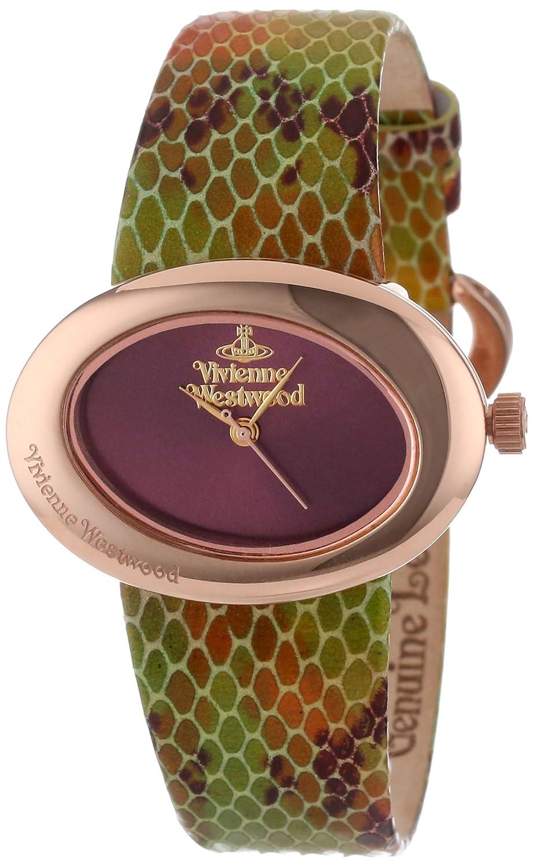 Vivienne Westwood Damen-Armbanduhr Ellipse Analog Leder mehrfarbig VV014RS