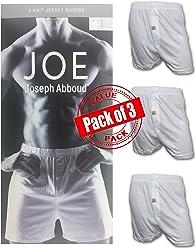 Joseph Abboud Mens 3 Pack Knit Jersey Boxers