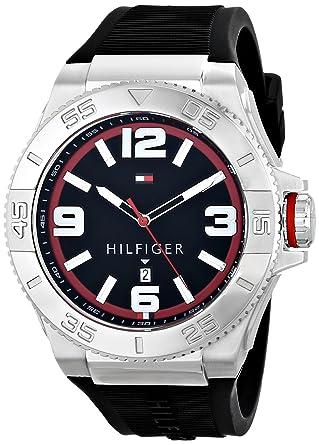 b268a4683 Amazon.com: Tommy Hilfiger Men's 1791034 Analog Display Quartz Black ...