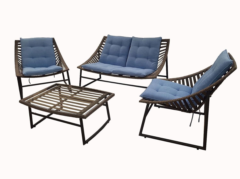 Juego Jardín Sky sofá y 2 sillones estructura de aluminio y ...