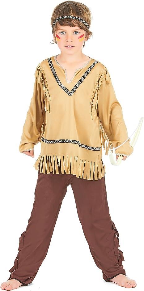 Disfraz indio – niño – marrón: Amazon.es: Ropa y accesorios
