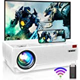 4K Projector, WiMiUS P28 WiFi LED Projector Native 1920x1080 Outdoor Projector 10000:1 Contrast Support Zoom, 400'' Screen 6D