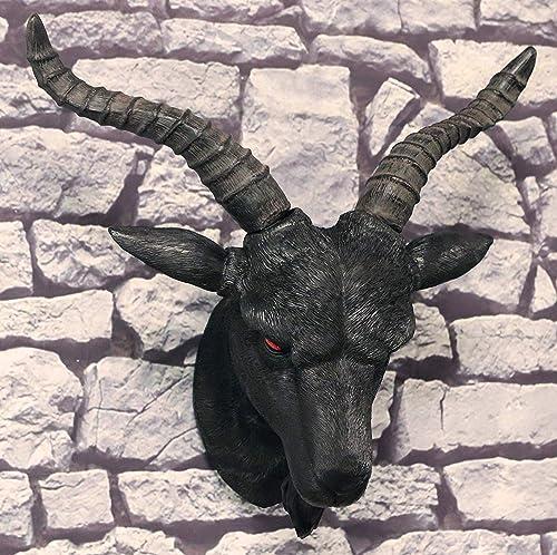 Ebros Large 18.5″Wide Black Satanic Sabbatic Goat Of Mendes Baphomet Lucifer Head