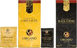 Organo Gold Combo Pack 1 Box Black Coffee And 1 Box Cafe Latte 100% Cetified Organic Gourmet Coffee