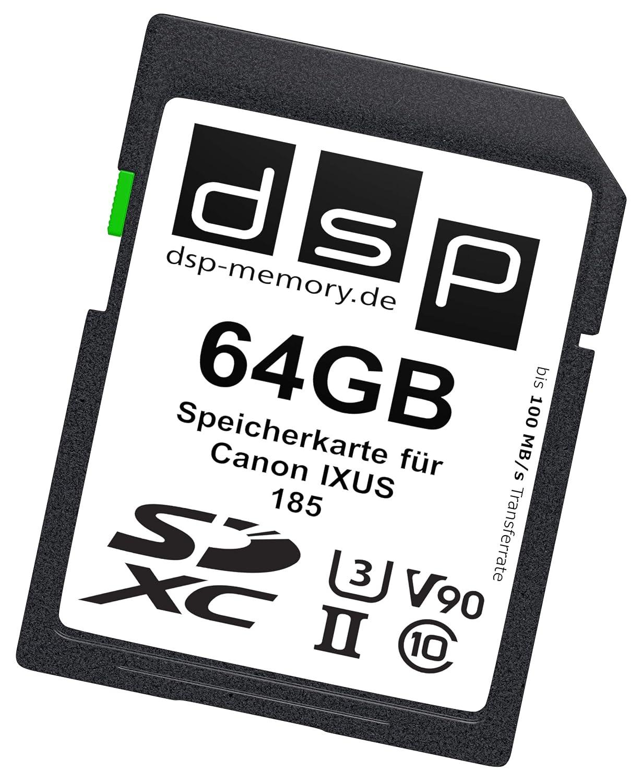 64GB Speicherkarte f/ür Canon IXUS 185