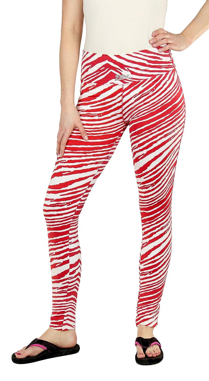 Zubaz Ladies Sport Team Zebra Print Leggings Pant