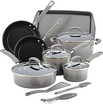 14-Piece Rachael Ray Nonstick Cookware Set