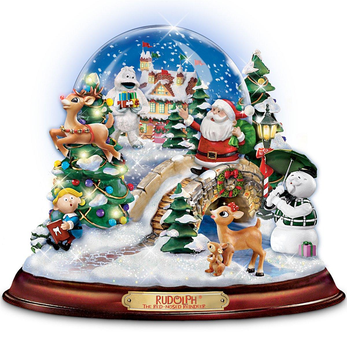 ふるさと納税 Rudolph The And Red-Nosed Rudolph Reindeer Illuminated And Musical Snowglobe Snowglobe by The Bradford Exchange B004PLSMJQ, 坂城町:ecccd280 --- irlandskayaliteratura.org
