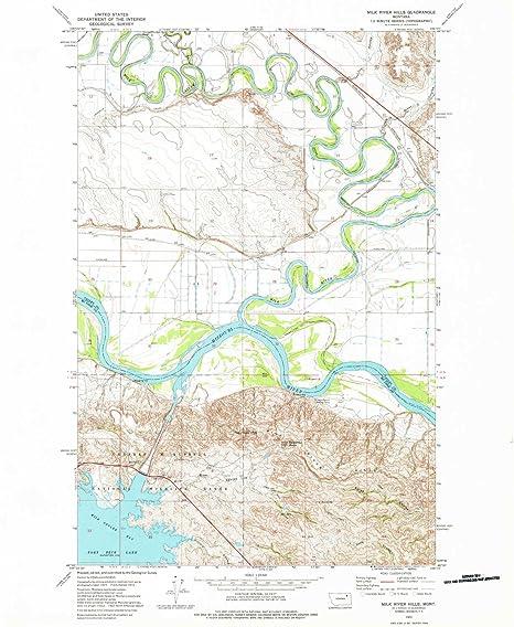 Amazon Com Yellowmaps Milk River Hills Mt Topo Map 1 24000 Scale