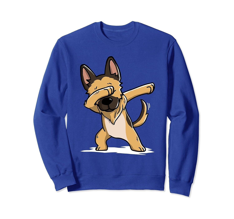 Dabbing German Shepherd Sweatshirt Funny Dog Dab Gift-alottee gift