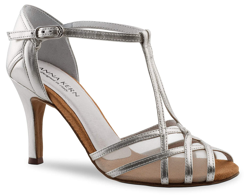 argent/é -42 EU Anna Kern 870-75 Chaussures de Danse pour Femme argent
