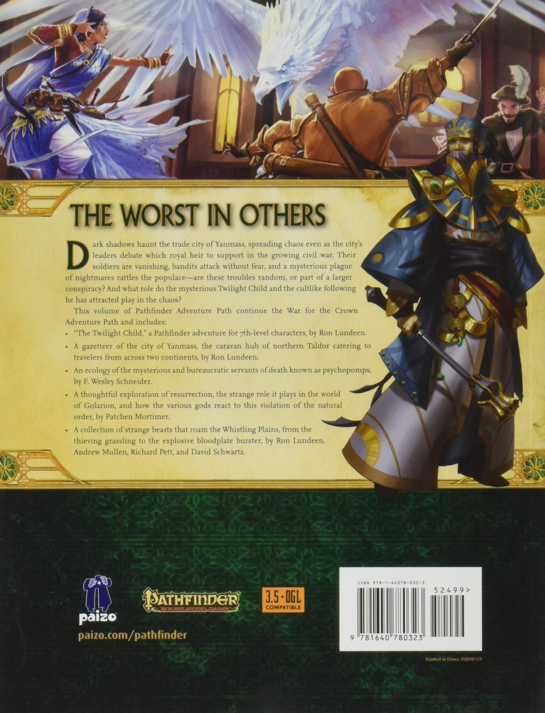 Pathfinder Adventure Path: Twilight Child (War for the Crown 3 of 6