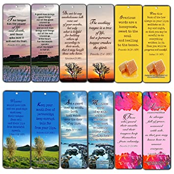 Amazoncom Christian Bookmarks Scriptures Cards 60 Pack From Niv