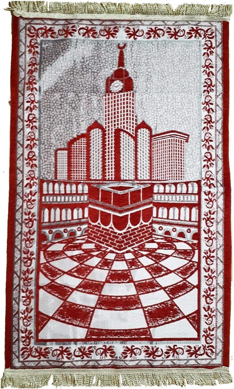 /Tappeto Musulmano/ /Rosso/ /106/cm x 67/cm Muslim Addict Tappeto di Preghiera/