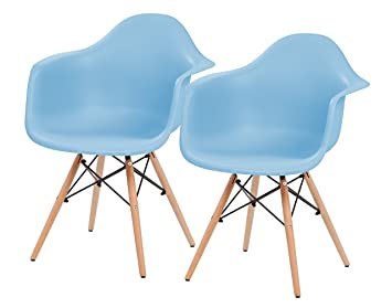 Iris Bis Mitte Des Jahrhunderts Modern Shell Sessel Mit Holz Eiffelturm  Beine, 2 Pack,