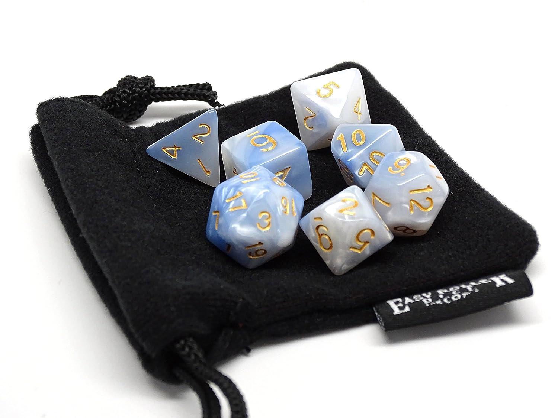アイボリークラウドPolyhedral Dice Set | 7 Pieceマッチングセット| Pristine Edition | Free Carryingバッグ|手チェック品質   B0774H8C4T