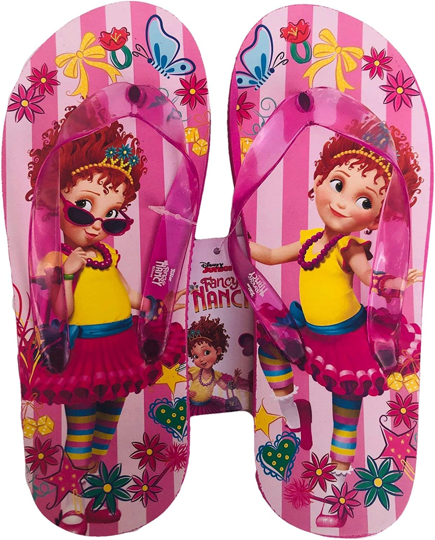 Fancy Nancy Flip Flops Summer Sandals Toddler Girls Size 5//6 7//8 /& 9//10