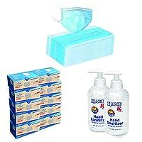 Pack of 500Single Use Disposable Face Mask, 2 FREE Hand Sanitizer 8 Oz. Bottles...