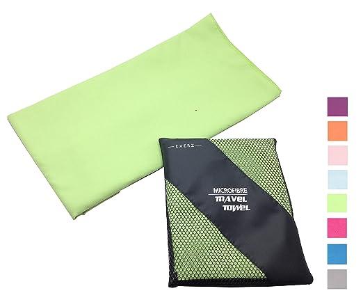 38 opinioni per Exerz Micro XL (150 x 85 cm) in Microfibra Asciugamano da viaggio / Asciugamano