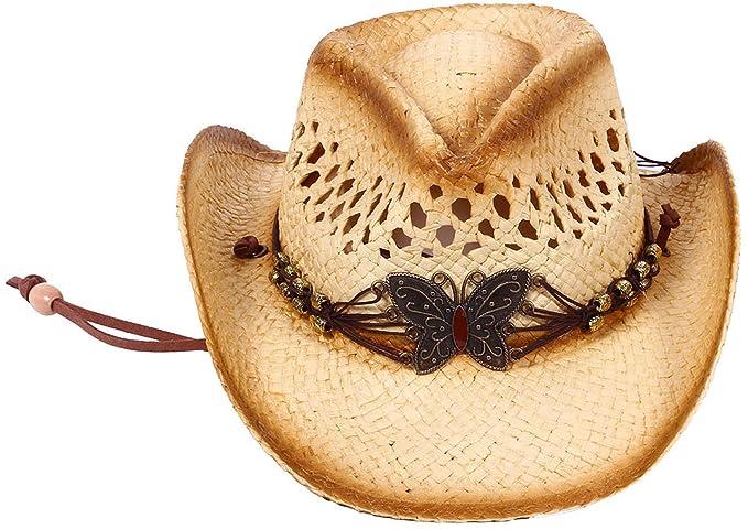 d513fcc2476 Kids Childs Summer Party Straw Cowboy Cowgirl Hats Wide Brim Beach Sun Hats