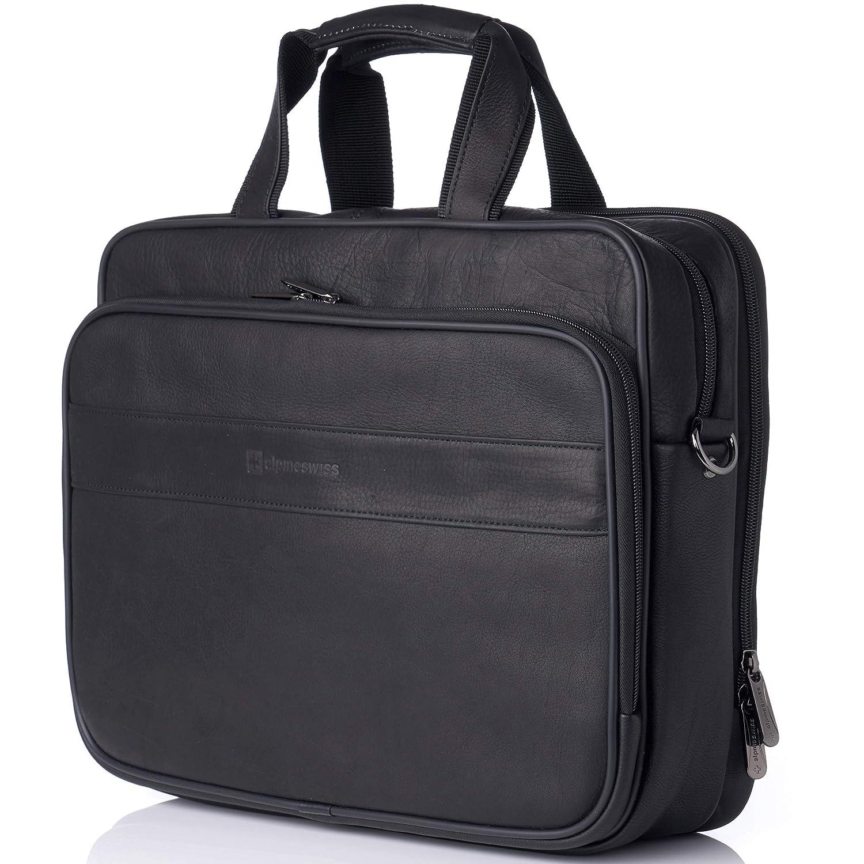 "316c97323 Amazon.com: Alpine Swiss Messenger Bag Colombian Leather 15.6"" Laptop  Briefcase Portfolio: Alpine Swiss Store"