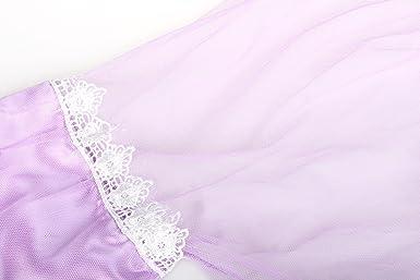 ReliBeauty - Vestido Princesa Rapunzel traje de cuento de hadas para niña -150 cm, lila: Amazon.es: Ropa y accesorios