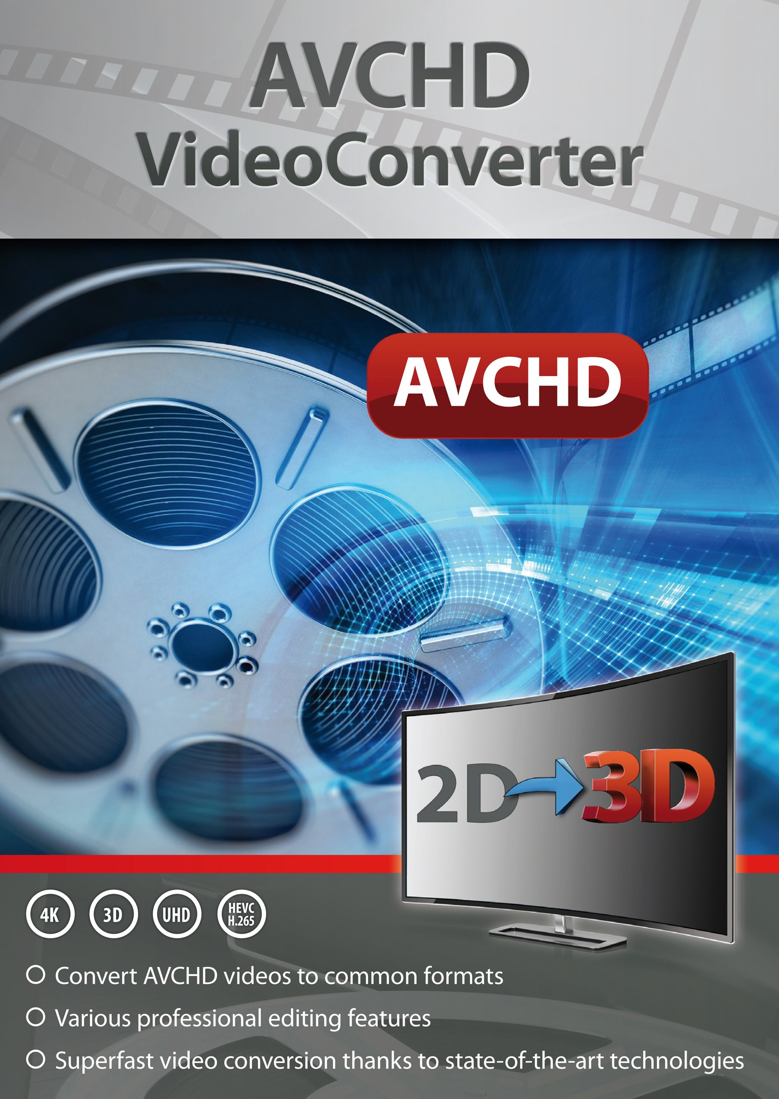 AVCHD Video Converter: Edit and Convert Files from over 50 Formats into any Video or Audio Format - Great Program to support Video Cutting - For Windows 10 / 8.1 / 8 / 7 by Markt+Technik