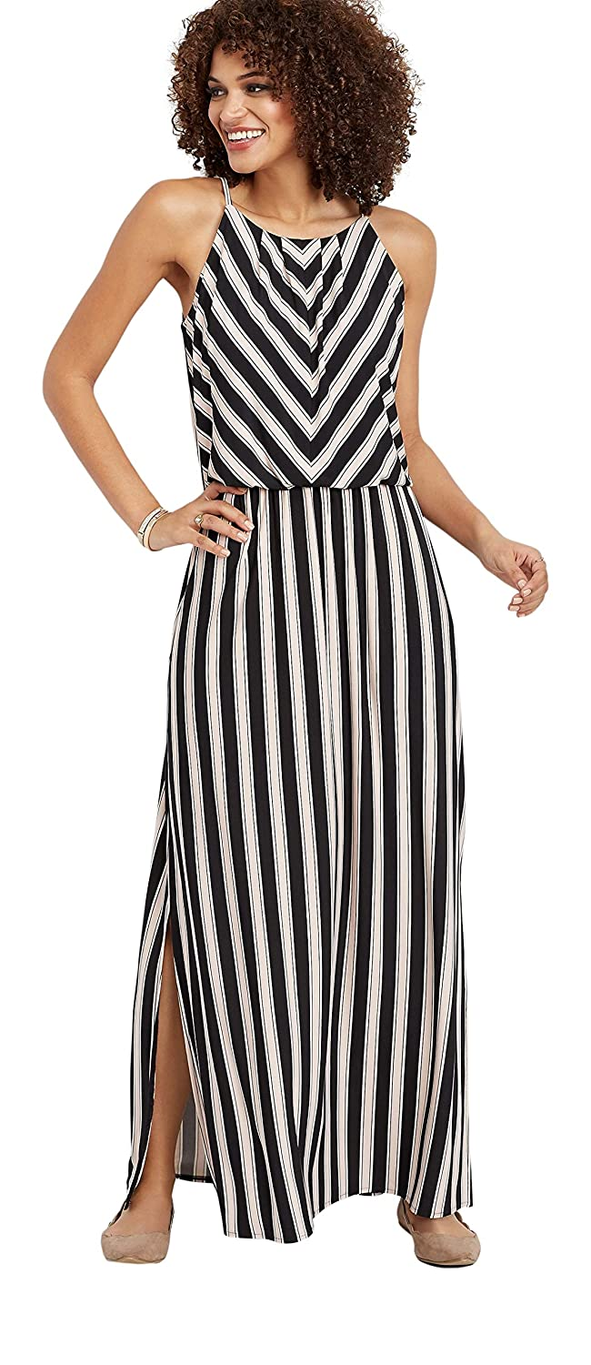 f3323af6480 maurices Women s Stripe Print Maxi Dress at Amazon Women s Clothing store