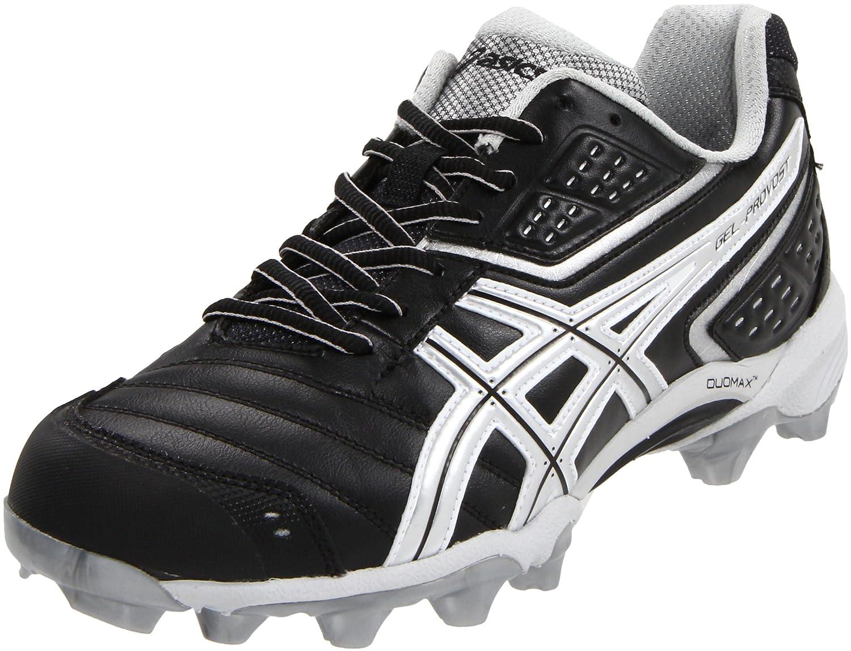 ASICS Men's GEL-Provost Low Lacrosse Shoes B004DCBD02 11.5 D(M) US|Black/Silver/White