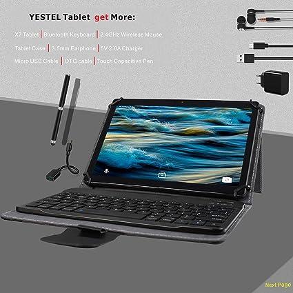 Tablet 10.1 Pulgadas Android 8.1 4G LTE/WiFi Dual SIM YESTEL X7 ...