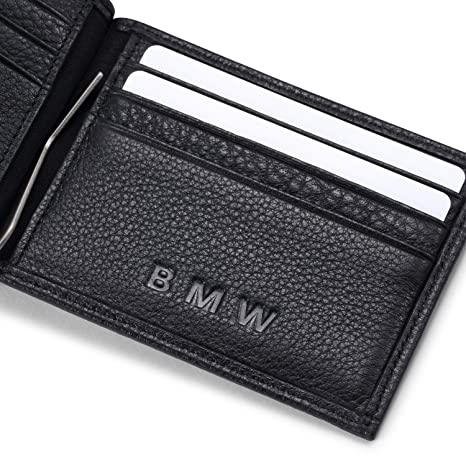 d32b56688e Amazon.com  Tuoco BMW Bifold Money Clip Wallet with 6 Credit Card Slots - Genuine  Leather  Toys   Games