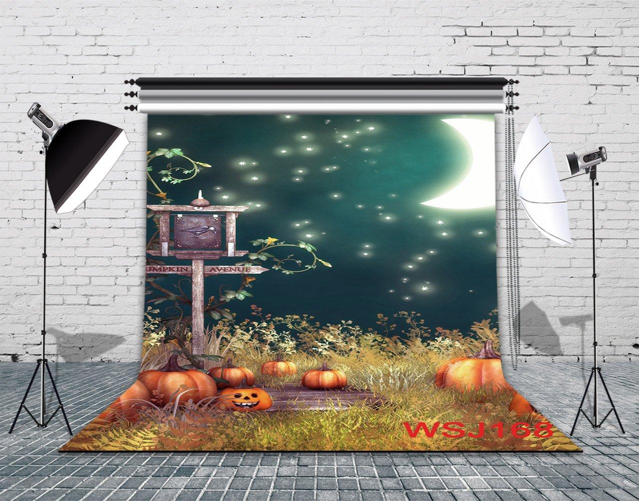 LB 8x8ft Halloween Photography Backdrop Vinyl Customized Halloween Decor Photo Background Studio Prop WSJ168