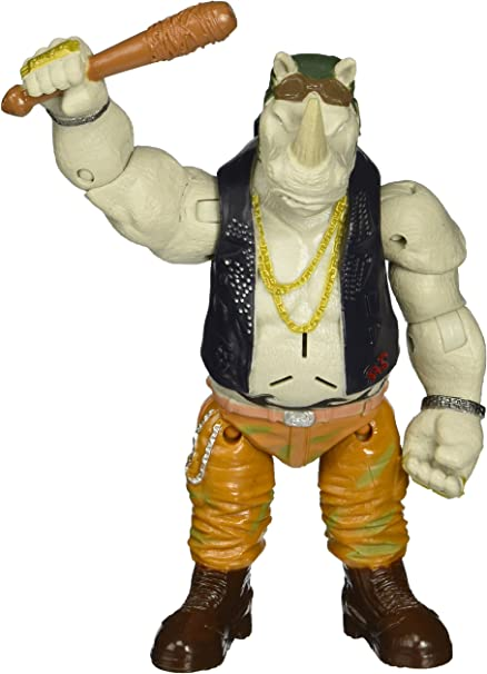 Teenage Mutant Ninja Turtles Out of the Shadows Battle Sounds Rocksteady Action Figure